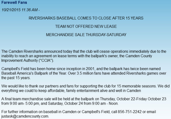 Camden Farewell