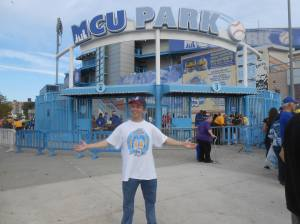 Doug outside the Gates to MCU Park