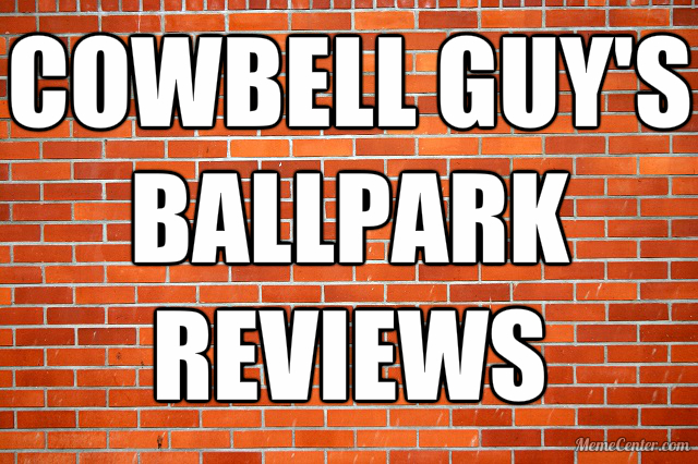 Cowbell Guy's Ballpark Reviews