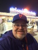 Gary poses for a selife at Citi Field.