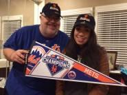 Gary celebrates winning the 2015 NL Pennant