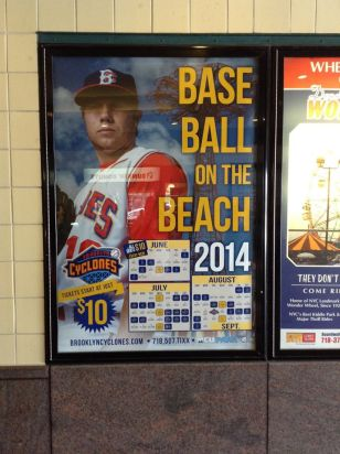 A 2014 Cyclones Schedule at Coney Island Station with Jared King (Daniel Weiss)