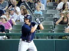 Jared King Batting Against Trenton in 2014 (Pat Sanchez)
