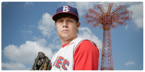 Jared King's Famous Death Stare (Brooklyn Cyclones)