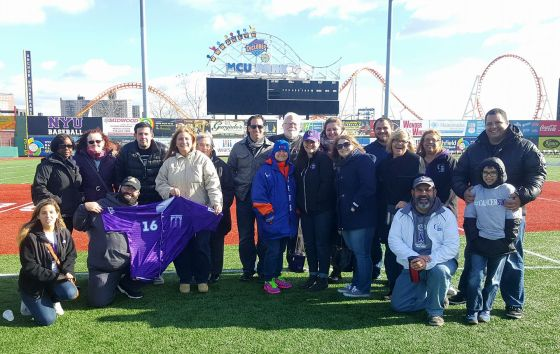 Group Photo on the field of MCU Park.